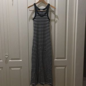 Forever21 Black and White Striped Maxi Dress